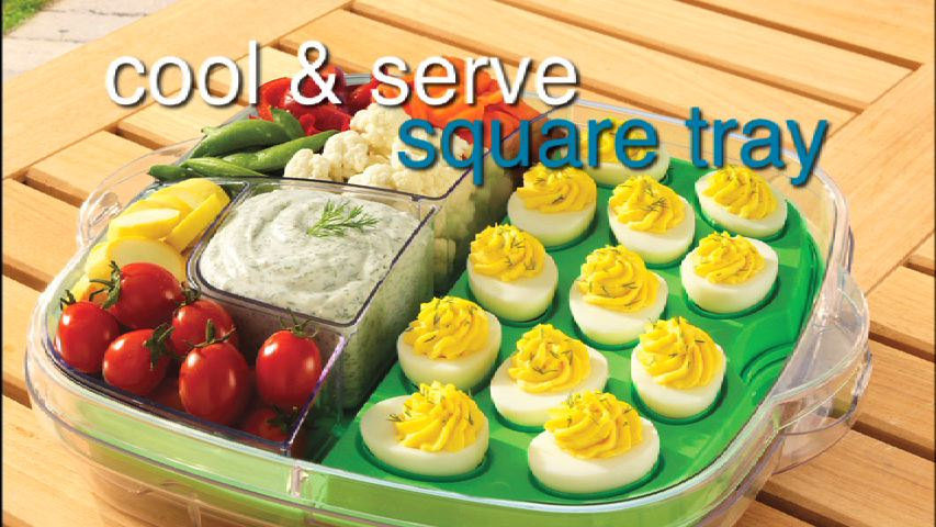Cool and Serve Square Tray
