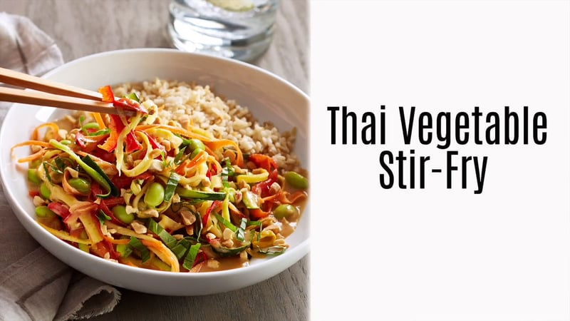 Thai vegetable stir fry product recipe videos pampered chef us thai vegetable stir fry forumfinder Choice Image